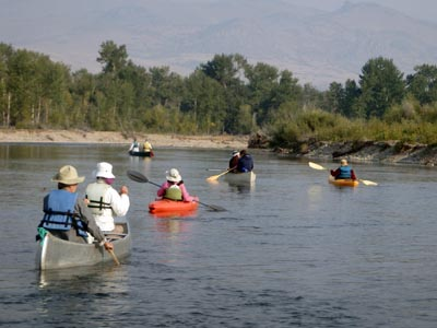Canoeing the Jefferson River.