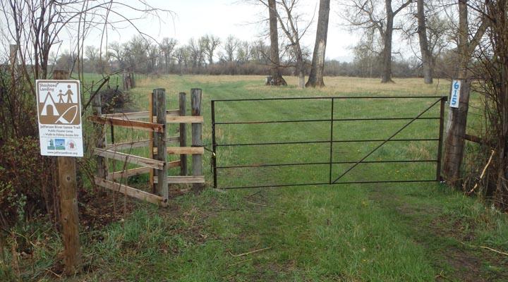 Front gate at Shoshone Landing Campsite.