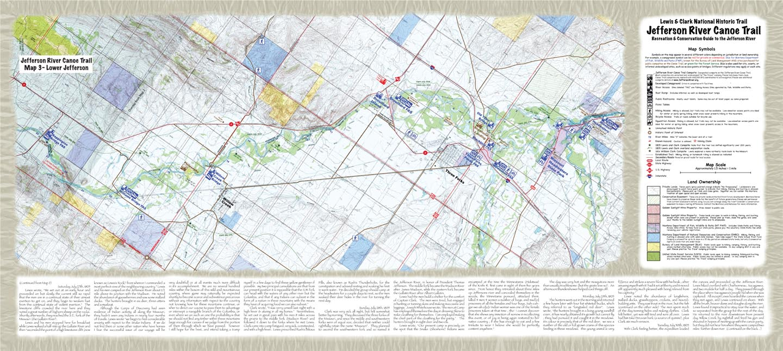 Jefferson River Canoe Trail Maps Conservation Recreation Lewis - Montana rivers map