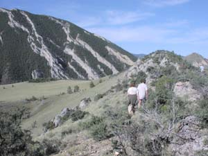 Hiking near Lewis and Clark caverns.