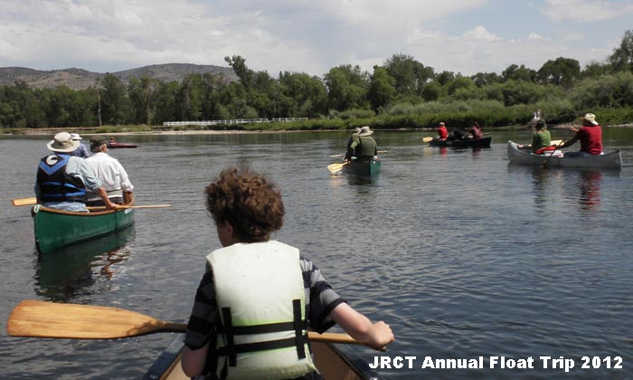 2012 Jefferson River Canoe Trail annual group float.
