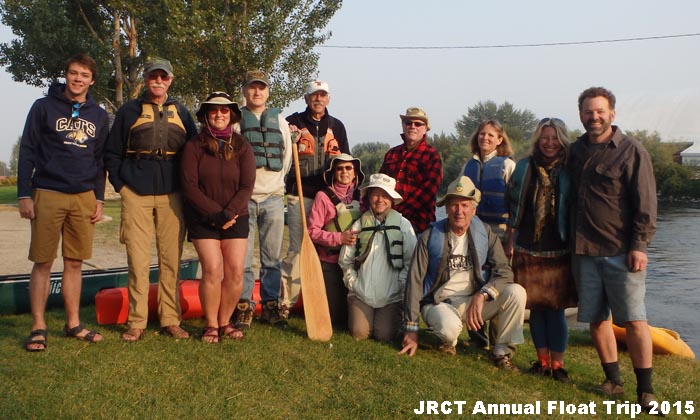 2015 Jefferson River Canoe Trail annual group float.