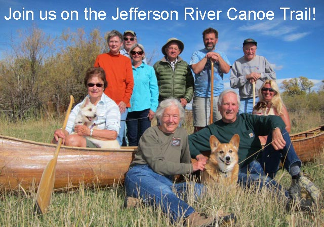 Group photo on the Jefferson River Canoe Trail.